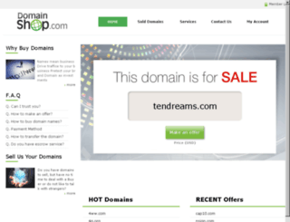 tendreams.com screenshot