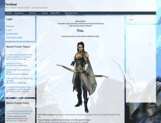tengear.com screenshot