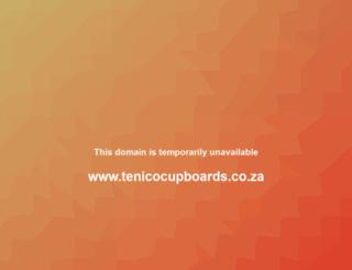 tenicocupboards.co.za screenshot