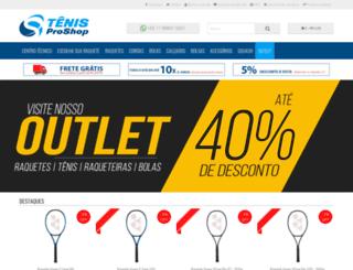 tenisproshop.com.br screenshot