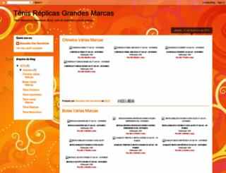 tenisreplicas.blogspot.com.br screenshot