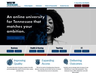 tennessee.wgu.edu screenshot