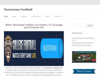 tennesseefootballlive.com screenshot