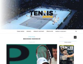 tennis-arena.cz screenshot