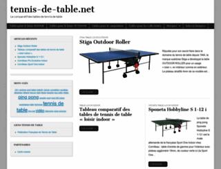 tennis-de-table.net screenshot