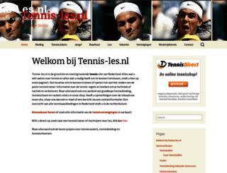 tennis-les.nl screenshot