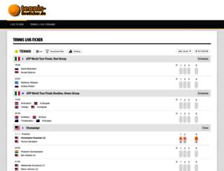 tennis-liveticker.de screenshot