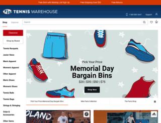 tennis-warehouse.com screenshot