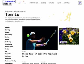 tennis.about.com screenshot