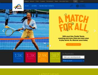 tennis.com.au screenshot