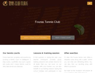 tennisclubfouras.fr screenshot