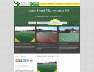 tenniscourtmaintenance.co.za screenshot