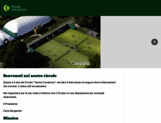 tenniscrevalcore.it screenshot