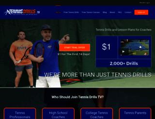 tennisdrills.tv screenshot