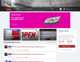 tennisforum.com screenshot
