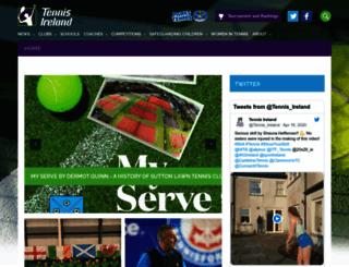 tennisireland.ie screenshot