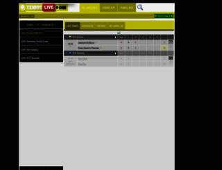 tennislive.com screenshot