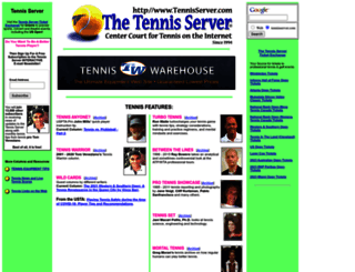 tennisserver.com screenshot