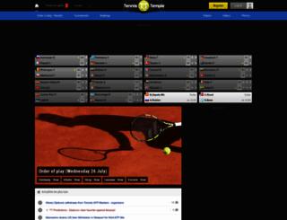 tennistemple.com screenshot