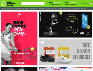 tenniswarehouse.com.au screenshot