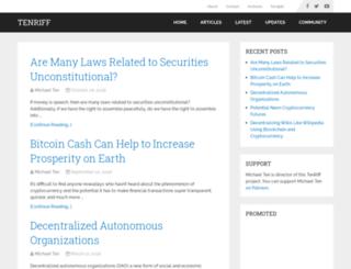 tenriff.com screenshot
