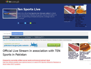 tensports.tv.com.pk screenshot