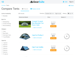 tents.findthebest.com screenshot