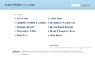 tenwebstreet.com screenshot