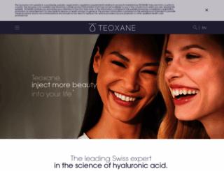 teoxane.com screenshot