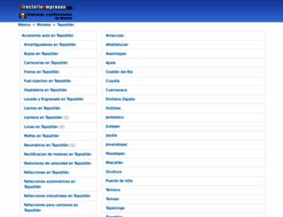 tepoztlan.directorioempresas.mx screenshot