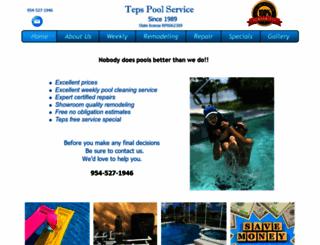 tepspoolservice.com screenshot
