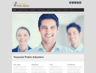 tequestapublicadjusters.com screenshot