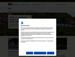 ter.sncf.com screenshot