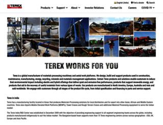 terex.in screenshot