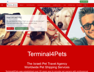 terminal4pets.com screenshot