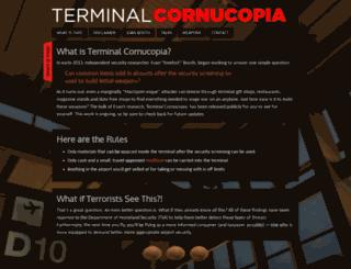 terminalcornucopia.com screenshot