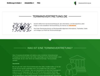 terminsvertretung.de screenshot
