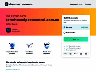 termiteandpestcontrol.com.au screenshot