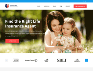termlifeinsuranceusa.com screenshot