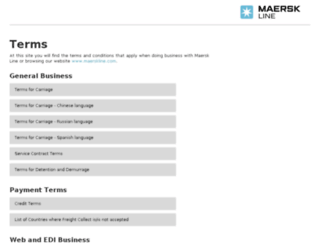 terms.maerskline.com screenshot