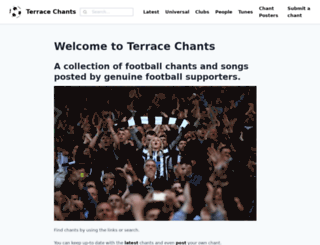 terracechants.me.uk screenshot