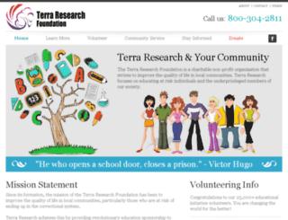 terraresearch.org screenshot