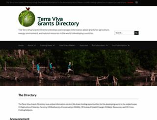 terravivagrants.org screenshot
