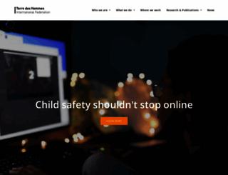 terredeshommes.org screenshot