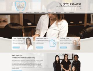 terrellmillfamilydentistry.com screenshot