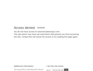 terrybearingco.com screenshot