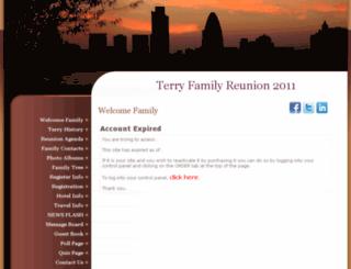 terryfamilyreunion.myevent.com screenshot