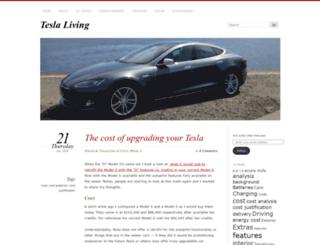 teslaliving.wordpress.com screenshot