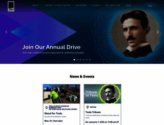 teslasciencecenter.org screenshot