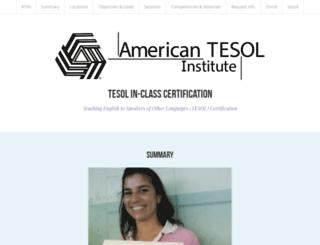 tesol-in-class.strikingly.com screenshot